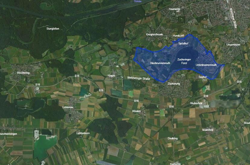 Zuständigkeitsbereich FF Brunnenreuth