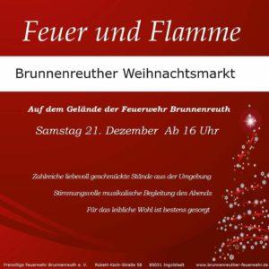 Feuer und Flamme - Weihnachtsmarkt 2019 @ Freiwillige Feuerwehr Brunnenreuth